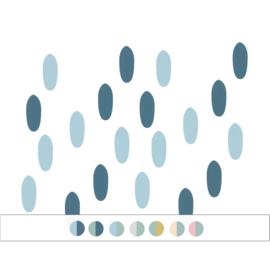 My little rainbow - Vlekken muurstickers 20st - 1x3cm (Diverse varianten)