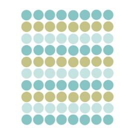 Confetti muursticker stipjes - blauw en goud - 120 stuks - 2x2cm