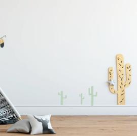 Indianen dieren - Cactus muurstickers 5st - 10x20cm