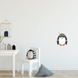 Indianen dieren - Pinguin muursticker - 17x24cm