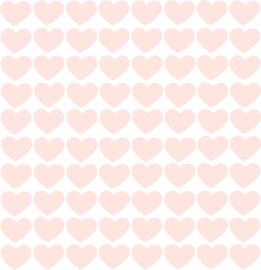 Hartjes muurstickers licht roze - 80 stuks - 2x2cm