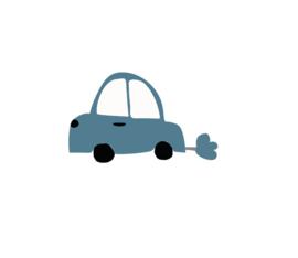 Auto muursticker donker blauw - 5 stuks - 8x11cm