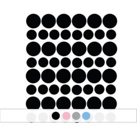 Muurstickers stippen  - 98 stuks (Diverse varianten)