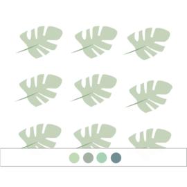 Jungly jungle - Bladeren muurstickers - 10x7cm (Diverse varianten)