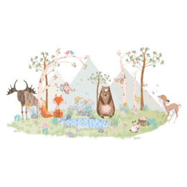 Diamond Forest Friends - Complete muursticker collectie