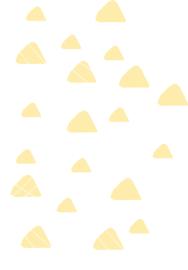 Indianen dieren - Gele driehoek muurstickers 20st - 4x4cm+3x3cm