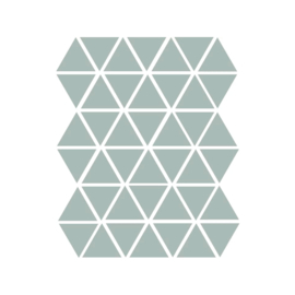 Driehoek muurstickers oud mint - 45 stuks - 4,5x4,5cm