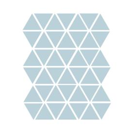 Driehoek muurstickers blauw - 45 stuks - 4,5x4,5cm
