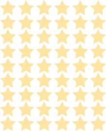 Sterren muurstickers licht geel