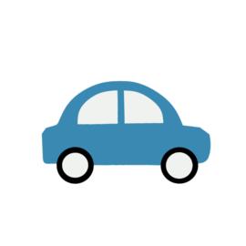 Donker blauwe auto's muurstickers - 5 stuks - 18x11cm