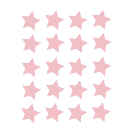 My little rainbow - Sterren muurstickers roze 20st
