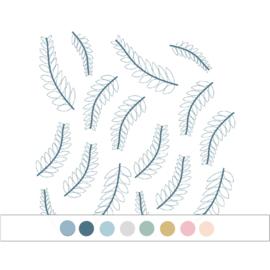 My little rainbow - Takjes muurstickers 16st - 9x18cm (Diverse varianten)