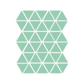 Driehoek muurstickers licht groen - 45 stuks - 4,5x4,5cm