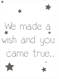 We made a wish... - Poster - A4/A3