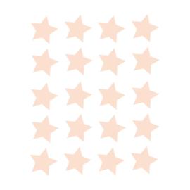 My little rainbow - Sterren muurstickers zalm roze 20st