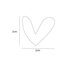 Hartjes muurstickers - 100 stuks - 2x2cm (Diverse varianten)