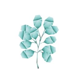 Diamond Forest Friends - groene struik muursticker - 5 stuks