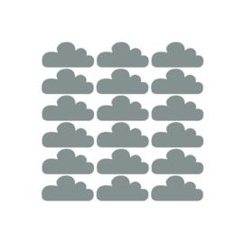 Muurstickers wolken - 18 stuks - 10x5cm (Diverse varianten)