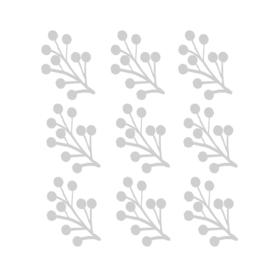 Grijze takjes muurstickers - 9 stuks - 15x12cm