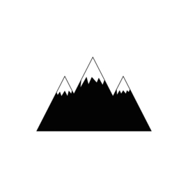 Bergen muurstickers - zwart - 70x45cm