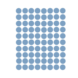 Stippen muurstickers donker blauw - 120 stuks - 2x2cm