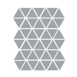 Driehoek muurstickers grijs - 45 stuks - 4,5x4,5cm