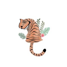 Tijger Tiggie - Zittende tijger muursticker