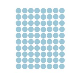 Stippen muurstickers licht blauw - 120 stuks - 2x2cm