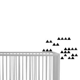 Driehoek muurstickers zwart - 45 stuks - 4,5x4,5cm