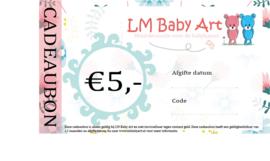 Cadeaubon €5,-