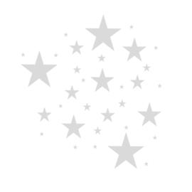 Sterren muursticker mix - Licht grijs -  33 stuks