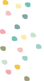 Indianen dieren - Gekleurde stippen muurstickers 20st - 2x2cm