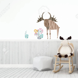 Diamond Forest Friends - eland muursticker