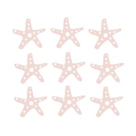 Fishie fishies - Zeesterren muurstickers zalm roze - 3x3cm