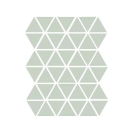 Driehoek muurstickers licht leger groen - 45 stuks - 4,5x4,5cm