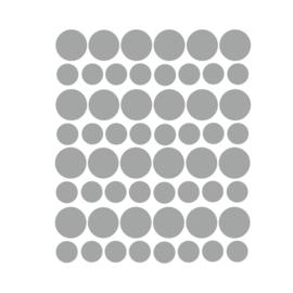 Muurstickers stippen grijs - 98 stuks - 5x5cm