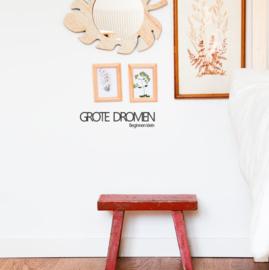 Tekst muursticker - Grote dromen beginnen klein - 40x10cm