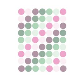 Confetti stipjes muurstickers 162stuks - 2x2cm