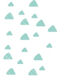 Indianen dieren - Mint groene driehoek muurstickers 20st - 4x4cm+3x3cm
