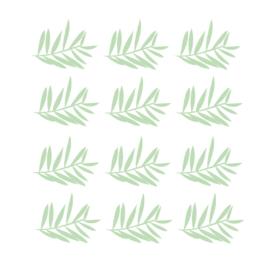 Jungly jungle - Takjes muurstickers licht groen 12st - 12x10cm