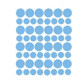 Muurstickers stippen blauw - 98 stuks - 5x5cm