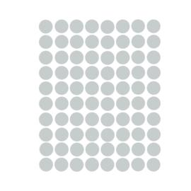 Stippen muurstickers grijs - 120 stuks - 2x2cm