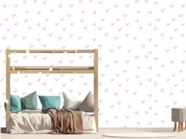 Hartjes behang - Roze - 10meter
