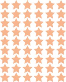 Sterren muurstickers oranje