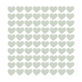 Hartjes muurstickers - Tranquil Dawn (trendkleur 2020) - 2x2m - 80stuks