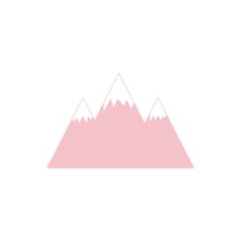 Bergen muurstickers - roze - 70x45cm