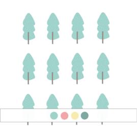 Indianen dieren - Bomen muurstickers 12st - 5x12cm (Diverse varianten)
