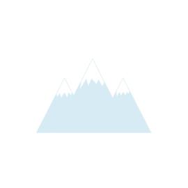 Bergen muurstickers - licht blauw - 70x45cm