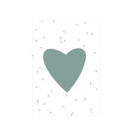 Groen hartje - Poster - A4/A3