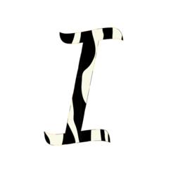 Letter muurstickers zebra print - Keuze uit A t/m Z